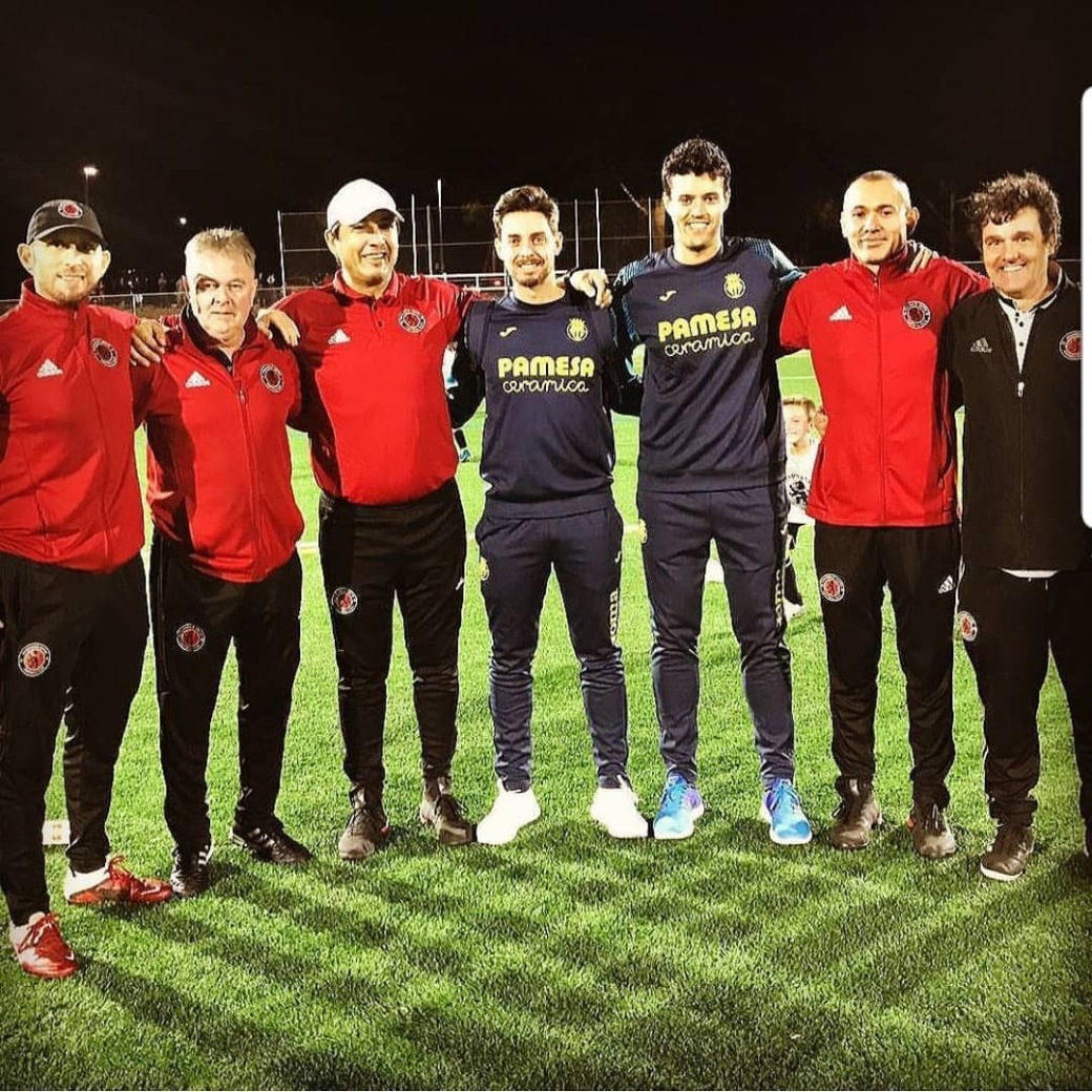 AUFC & Villarreal Coaches.JPG